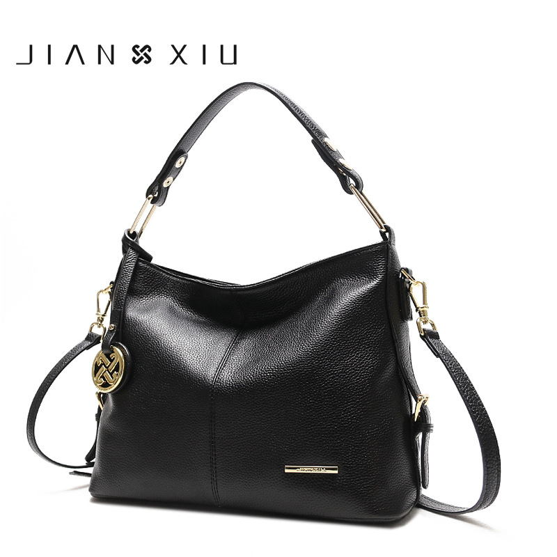 JIANXIU 100% Genuine Leather ladies Handbags Women Bags Designer Shoulder Messenger Tote Bag Handbag Crossbody Bags for Women esufeir luxury women handbag patchwork genuine leather bags for women shoulder messenger bag ladies crossbody bag designer tote