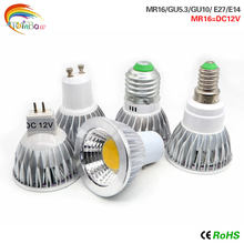 led Spotlight GU10 Bulbs Light E27 E14 GU5.3 110V 220V Dimmable Led Warm/White 9W 12W 15W GU10 COB LED lamp light MR16 DC12V(China)