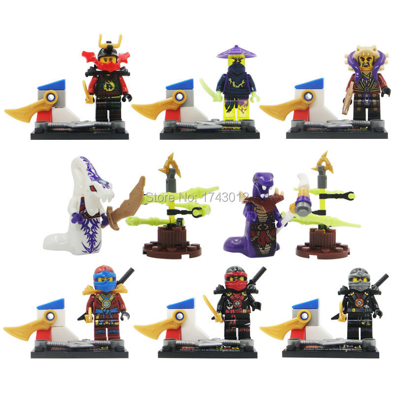 LELE 79054 Ninja Kai Cole Cowler Gnea Warrior Ninja Building Blocks Toy Set Model Bricks Toys action figure