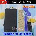 Высокое Качество ЖК-Дисплей + Дигитайзер Сенсорный Экран Стекла Ассамблея Для ZTE Red Bull V5 U9180 V5S V9180 N9180 Сотовый Телефон 5.0 дюймовый