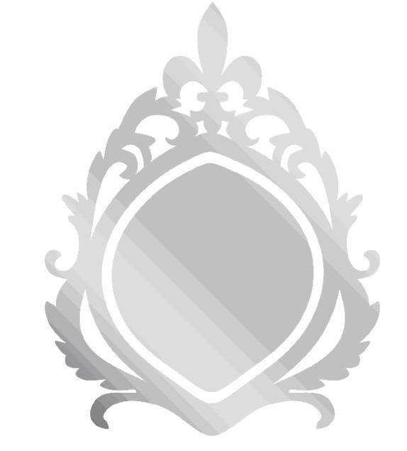 ΞEnvío Gratis nuevo diseño acrílico espejo Marco, 3D espejo marco - a590