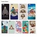 Ретро социальных Ленивцы с роуз жесткий Белый Case Чехол для Huawei P7 P8 P9 P9 Lite Плюс Mate 9 8 7 S Phone Case