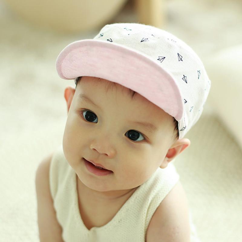 Spring Pure Cotton Kids Hat Cute Plane Print Flat-Top Baby Baseball Cap  Newborn Infant Cartoon Sun Cap for Boy Girl Sun Hat eba29d2f04e