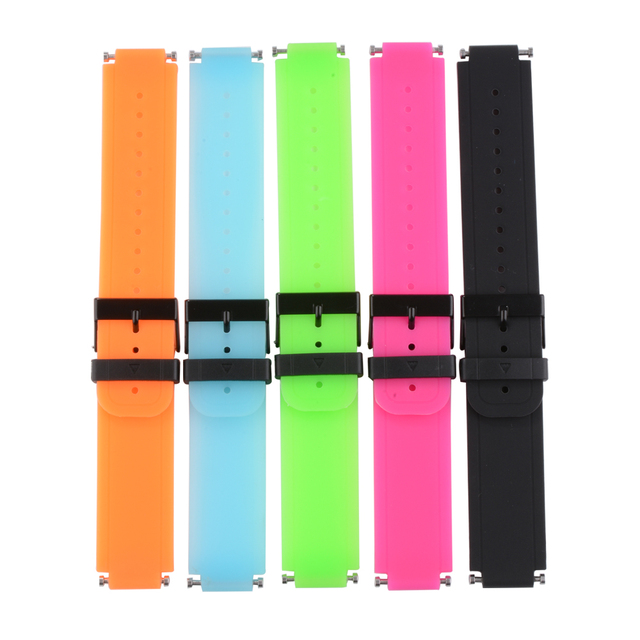 XCSOURCE 5pcs Sets Soft Silicone Strap Replacement Smart Watch Band With Tools 5 Colors For Garmin Vivoactive TH439