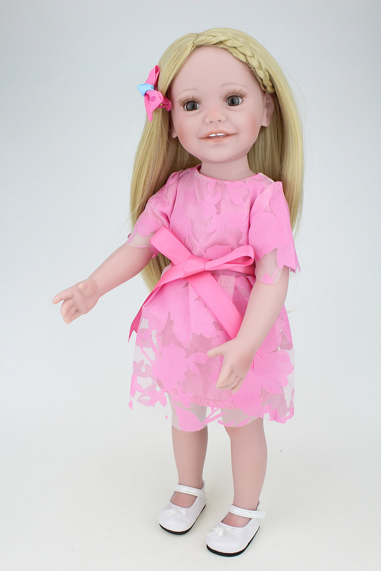 Adora 18 Inch Play Doll Full Vinyl American Type Dolls With Blonde Hair Pink Dress Clothes Kids Toys For Children юбка befree befree be031ewuxr91
