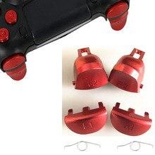 Кнопки включателя Замена для Playstation 4 Pro/PS4 тонкий JDS 040 JDM 040 контроллер (Gen 2) L1 L2 R1 R2 Алюминий сплав металла