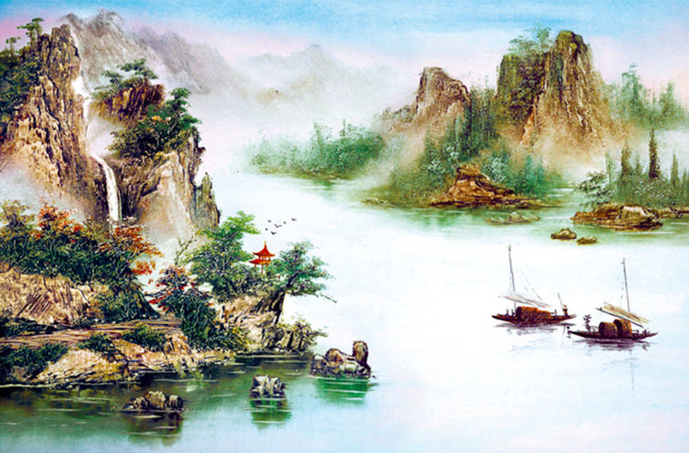 Personalized Custom Wallpaper Landscapes Chinese Ink Painting Style Mural Backdrop Recommended In Wallpapers From Home Improvement On Aliexpress