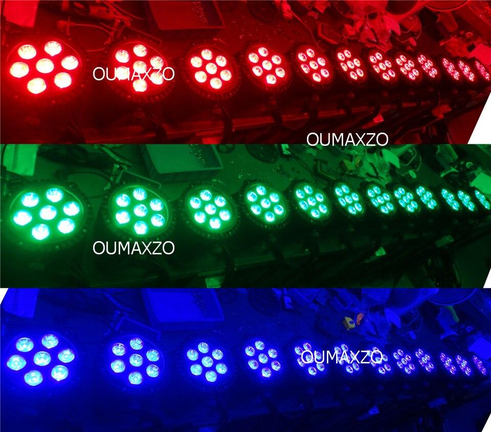 6in1 6 pçslote SlimPro 7 * 18 w Ao Ar Livre conduziu a luz do palco Par 64