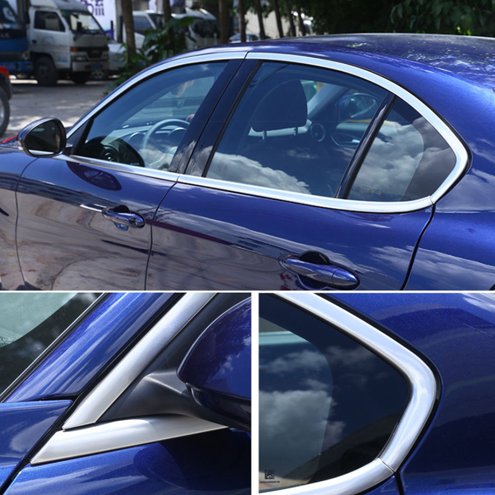 Stainless Car Door Side Window Glass Belt Line Molding Trim Frame