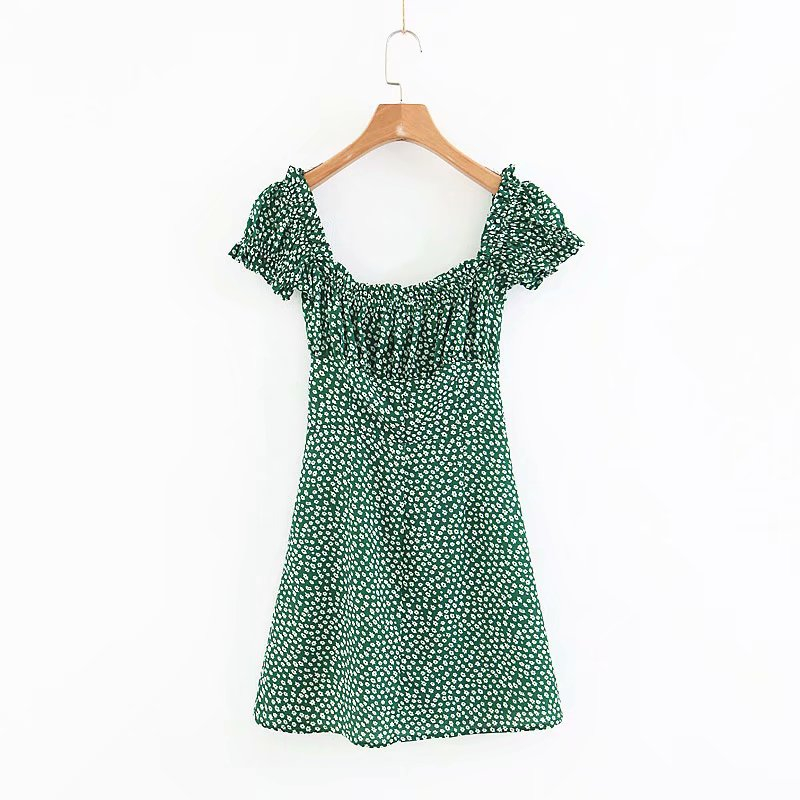 Details about Women Retro Style Mini Beach Ruffle Boho Summer Floral Dress  Elegant