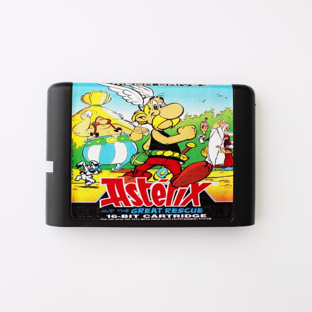 Asterix And The Great Rescue 16 bit MD Game Card For 16 bit Sega MegaDrive Genesis game console image