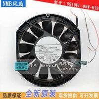 Новый NMB MAT Minebea 5910PL 05W B79 17025 двойной шариковый подшипник 24 В 1.95A 17 см высокий объем воздуха Вентилятор охлаждения