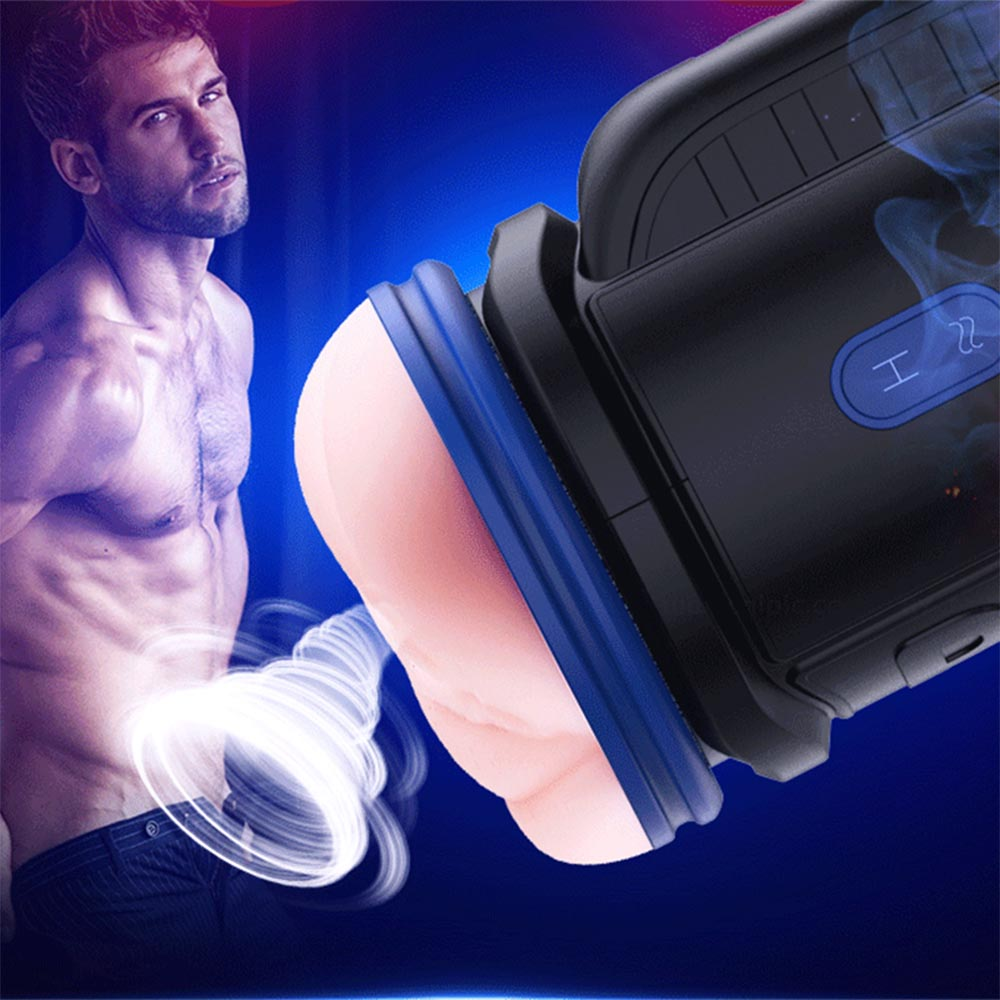 Telescopic Rotation Automatic Male Masturbator Sex Toy For Men Heated Voice Cup Vagina Real Pussy Adult