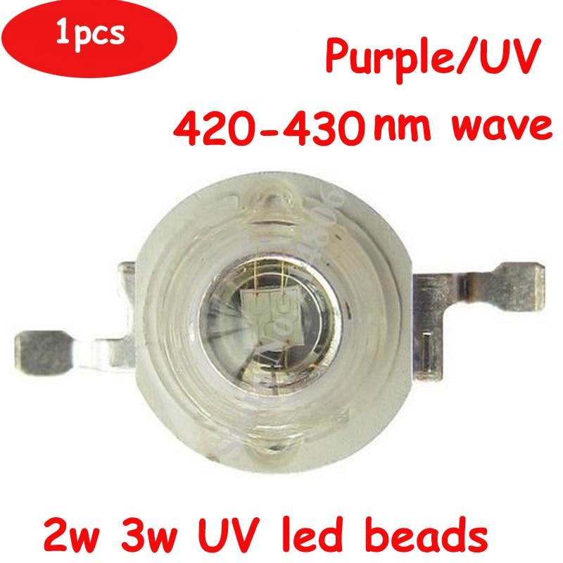 5pcs 2W 3W EPILEDS 45mil 3.6V 600-700mA Chip LED Diodes UV Ultraviolet 420nm 430nm LED Lamp Light Part
