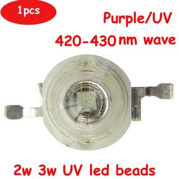 5pcs 2W 3W EPILEDS 45mil 3.6V 600-700mA Chip LED Diodes UV Ultraviolet 420nm 430nm Lamp Light part