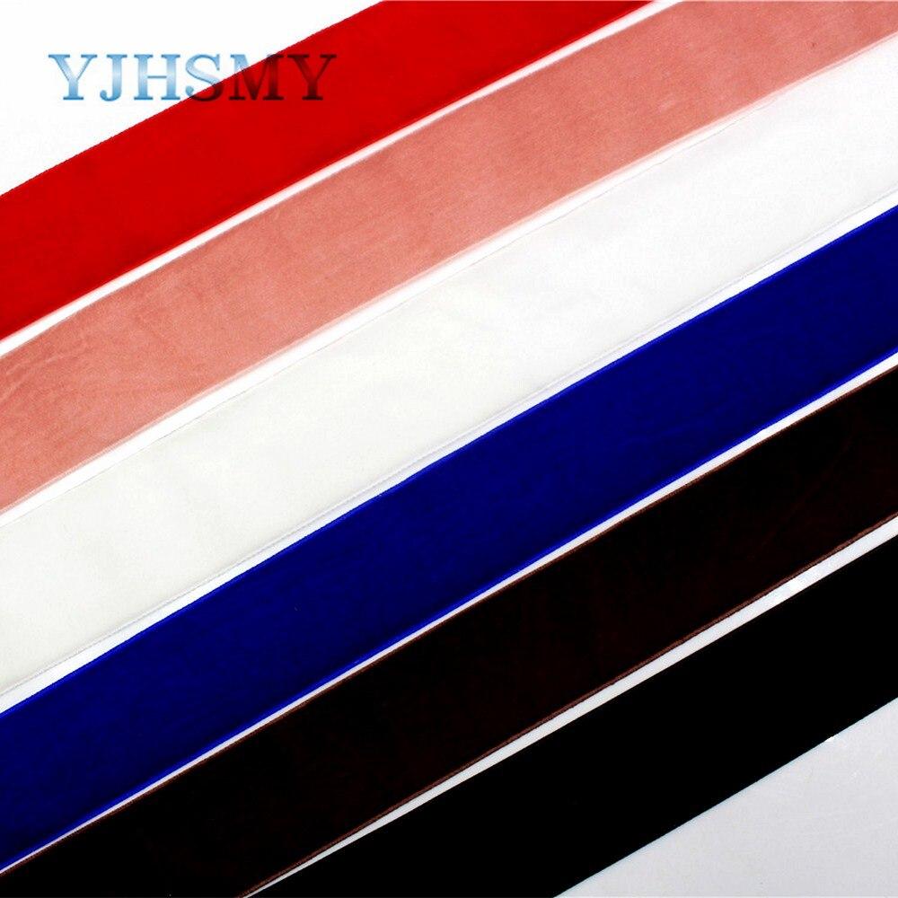 2018 Новый 1712306,5 двор/мм Лот 38 мм стекаются сплошной серии Стиль Цвет ленты DIY бархат материал, свадебные аксессуары упаковки