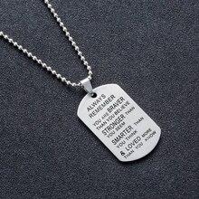Модное ожерелье с подвеской для мужчин и женщин из нержавеющей стали
