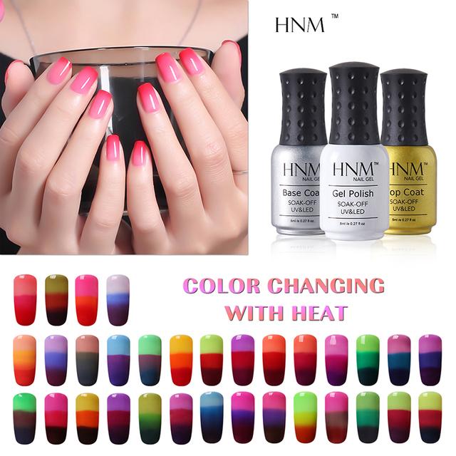 Qt Nail HNM Temperature Color Changing Gel Nail Polish