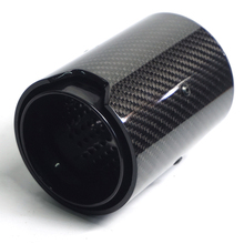 63mm Real Carbon Fiber Glossy Car Exhaust Tip Muffler Tail Pipe All Black Style For M Performance M2 F87 M3 F80 M4 F82