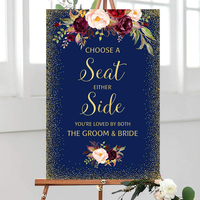 Wood Plaque Choose a Seat Either Side Sign Youre loved by both the Groom Bride Pick a Seat Ceremony Wedding Welcome Sign Navy