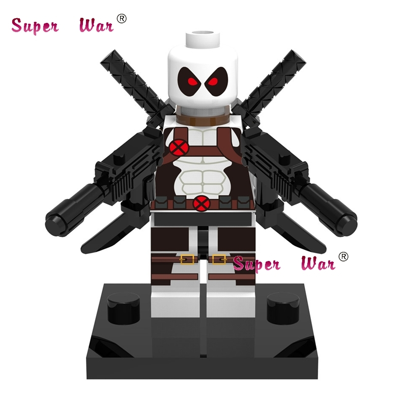 Blocks Toys & Hobbies United 1pcs Superhero Marvel Avengers Deadpool Wilson Building Blocks Action Sets Model Bricks Toys For Children High Quality