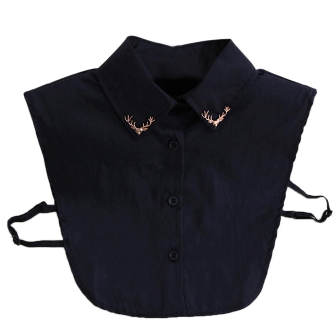 Trui Met Blouse Kraag.Hot Koop Nep Kraag Shirt Metal Fawn Patroon Kleding Trui Blouse