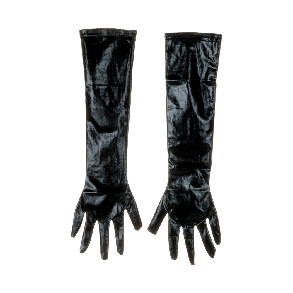 US $3.08 27% OFF|1Pair Adult Sexy Long Latex Gloves Black Ladies Hip pop  Fetish Faux Leather Gloves Clubwear Catsuit Cosplay Costumes Accessory-in  ...