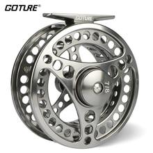 Goture 3/4 5/6 7/8 9/10 WT Fly Fishing Reel CNC maszyna Cut Large Arbor Die Odlewania Aluminium Fly Reel z torba
