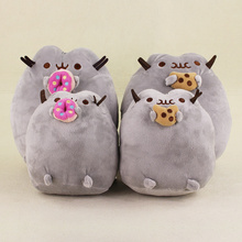2 Styles 15cm 22cm Lovely New Pusheen Cat Cookie Doughnut Plush Soft Stuffed Animal Doll Toys