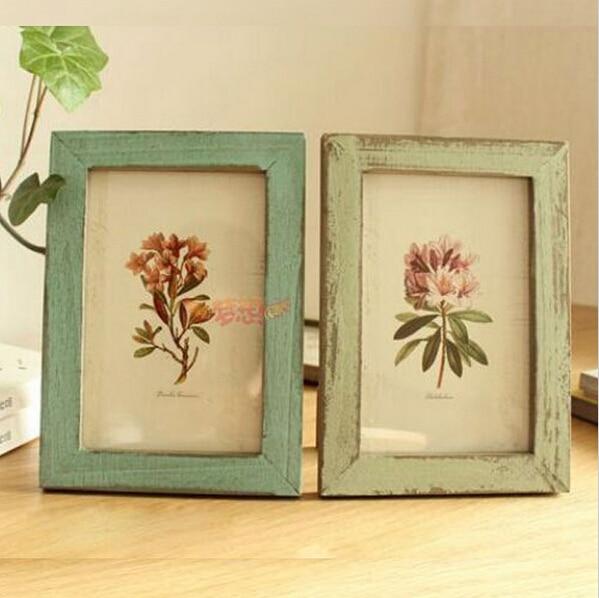 2 unids/lote marcos de cuadros Vintage rectángulo de visualización ...