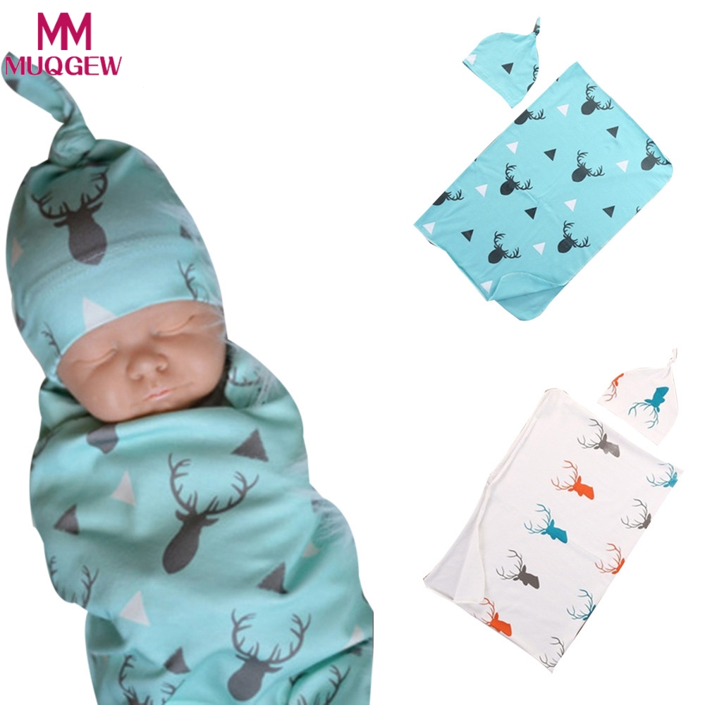 4 Baby Blanket Flannel Soft Warm Swaddle Newborn Sleeping Blankets Blue Set Boys