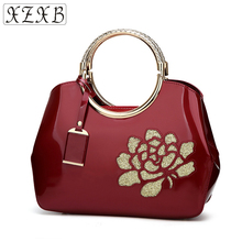 XZXB Fashion Currents Women s Single Shoulder wallet Creative European And  American Style Glossy Ladies  Handbag f4f49508f6319