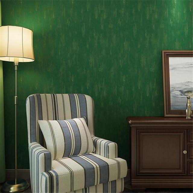 Beibehang Country Américain Rétro Couleur Pure Papier Peint Chambre Salon  Salle à Manger Magasin De Vêtements