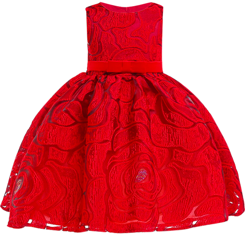 5d44134f4 Red Girls Party Lace Evening dress Kids Dresses for girls Children Wedding  Flower Bow Dress baby Girls Clothes for 2-7yrs baby - aliexpress.com -  imall.com