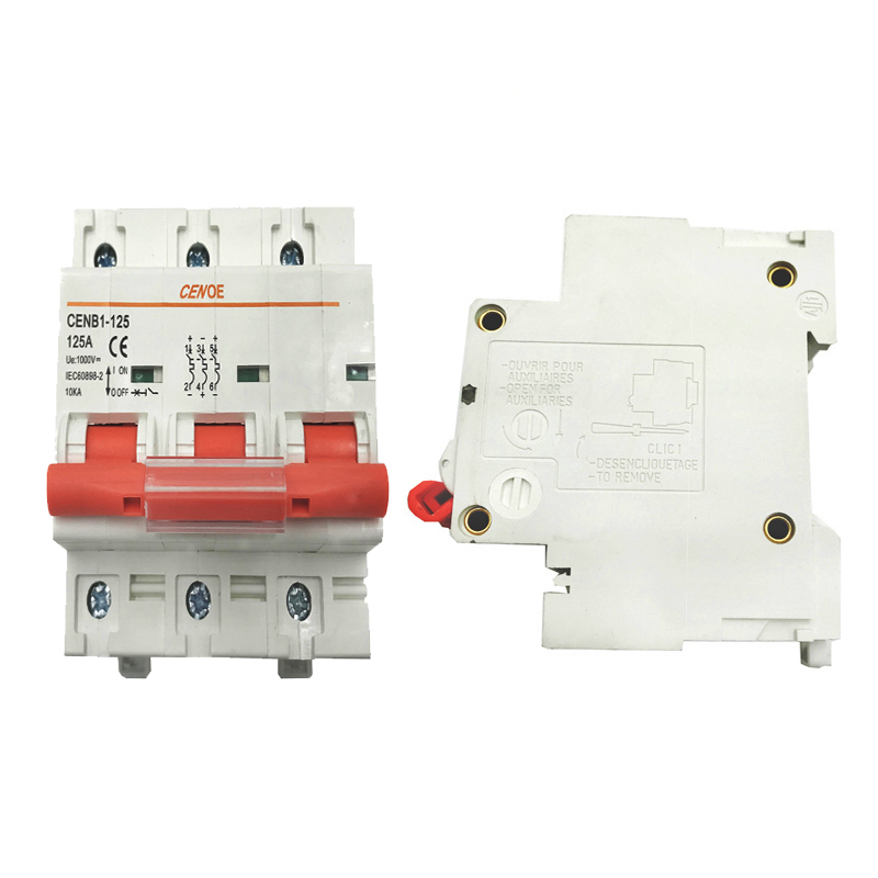 DC 1000V 3P dc circuit breaker mini solar breaker mcb 63A 80A 100A 125A with 1000A breaking capability for big solar capacity
