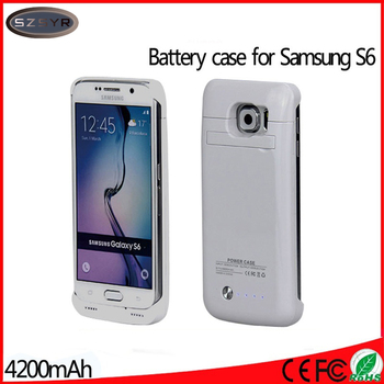 On Sale 4200mAh External Pack Battery Power Bank Charger Case Cover for Galaxy S6 G9200 Freeshipping