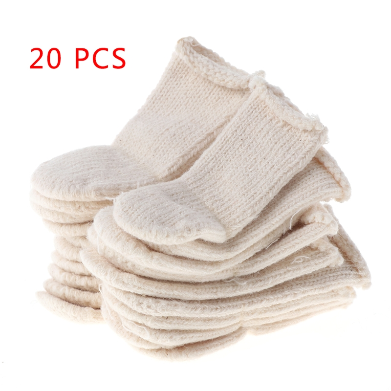 Cotton Finger Guards Cots Avoid Protection Prints Clean Polish Craft Tool 20Pcs