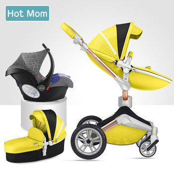 Free ship!new color  Hot Mom 2 in 1 Baby Stroller 360 degree Rotate baby carriage Luxury High Landscape Baby Pram EU Standard 1