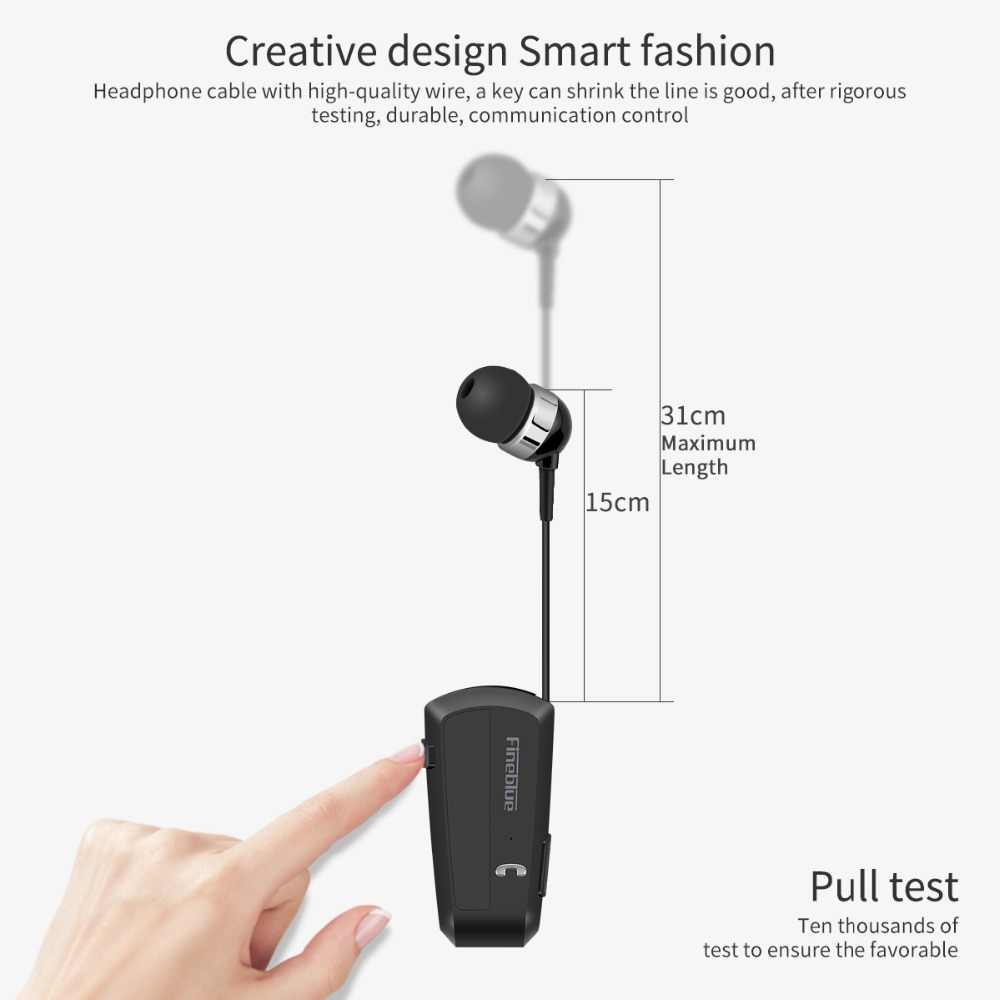 127421c3cba ... Fineblue F990 Wireless Bluetooth earphones neck clip on telescopic type  business Sport stereo head phones Vibration ...