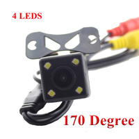 HD CCD 4 LED Car Rear View Camera Night Vision Universal Car Reverse Rearview Camera Wide