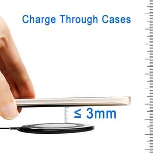 Image 5 - Ultra Slim צ י אלחוטי מהיר מטען Pad עבור Apple iPhone 11 פרו XS Max XR X S 8 בתוספת Samsung s9 S8 הערה 9 10W אלחוטי טעינה