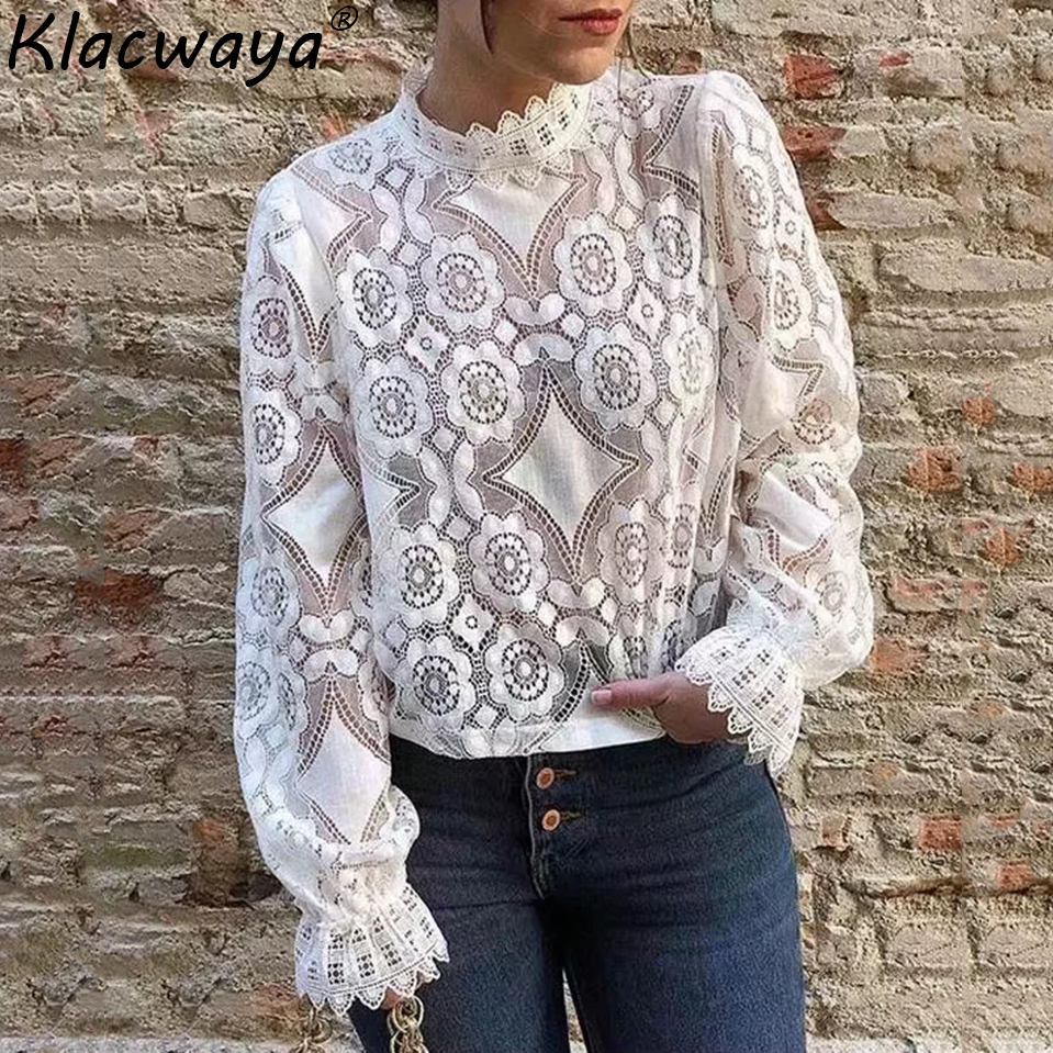 Fashion Women Oversize Lace Blouse Shirt 2019 Ladies Loose Shirts Lovely Girls Sweet Short Blouse Female Party Chic Tops femme Chemisier