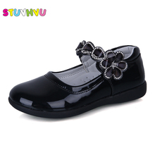Size 26-37 Toddler Girl Patent Leather Shoes Spring Autumn B