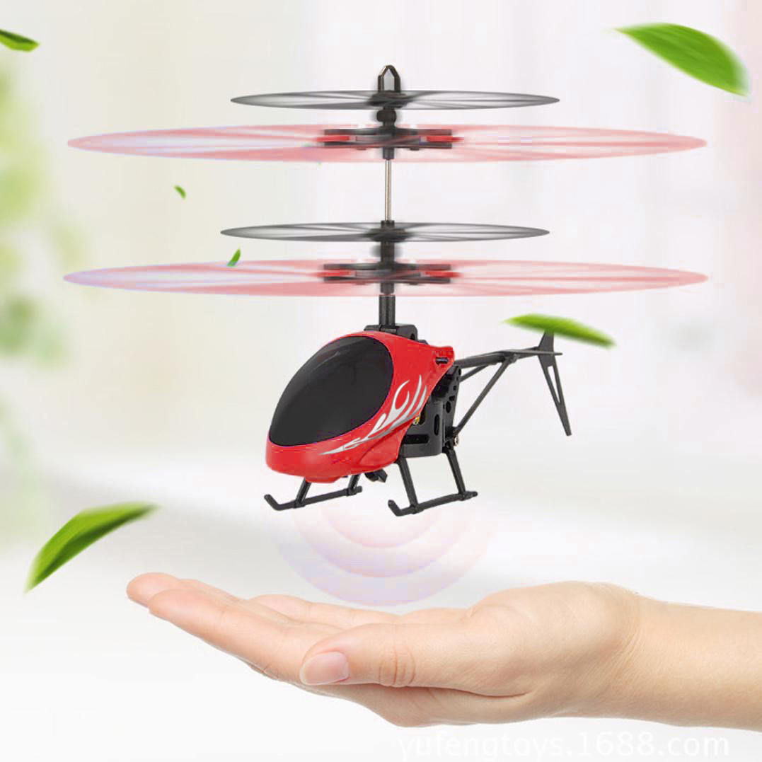Flying Mini RC Sence Infraed Induction drones Helicopter Aircraft Flashing Light Toys For Kid helicoptero de controle remoto