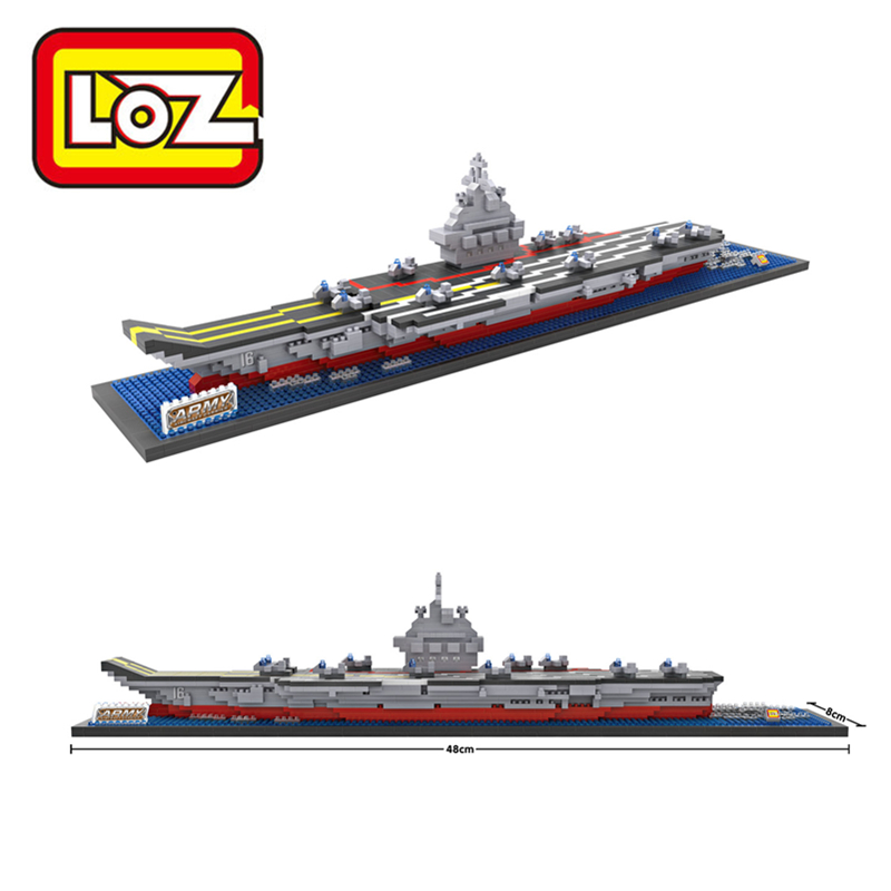 LOZ Aircraft Carrier Liaoning 3D Building Blocks Toy Aircraft Carrier Boat 3D Model Educational Gift Toy for Children loz aircraft carrier liaoning 3d building blocks toy aircraft carrier boat 3d model educational gift toy for children
