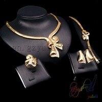 Frete Grátis belo conjunto de jóias dubai ouro 18 quilates conjuntos de jóias por atacado de moda Africano conjunto de jóias