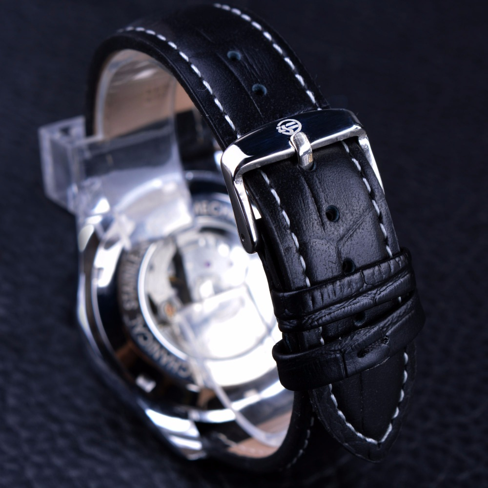 Forsining Luxury Casual Design Moonphase Calendar Көрсеткіш - Ерлердің сағаттары - фото 5