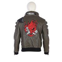 Cyberpunk Cosplay Costume Cyberpunk Jacket Men's Coat PU Jacket