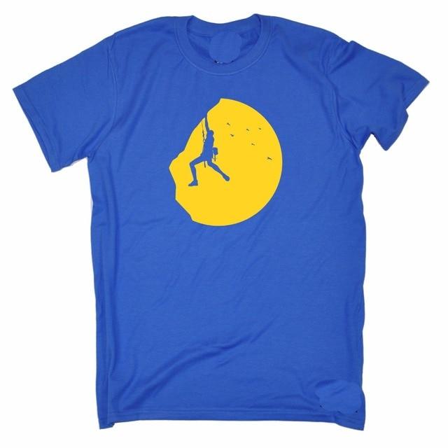 Купить 2018 модные высокие мужская футболка альпинист закат адреналин