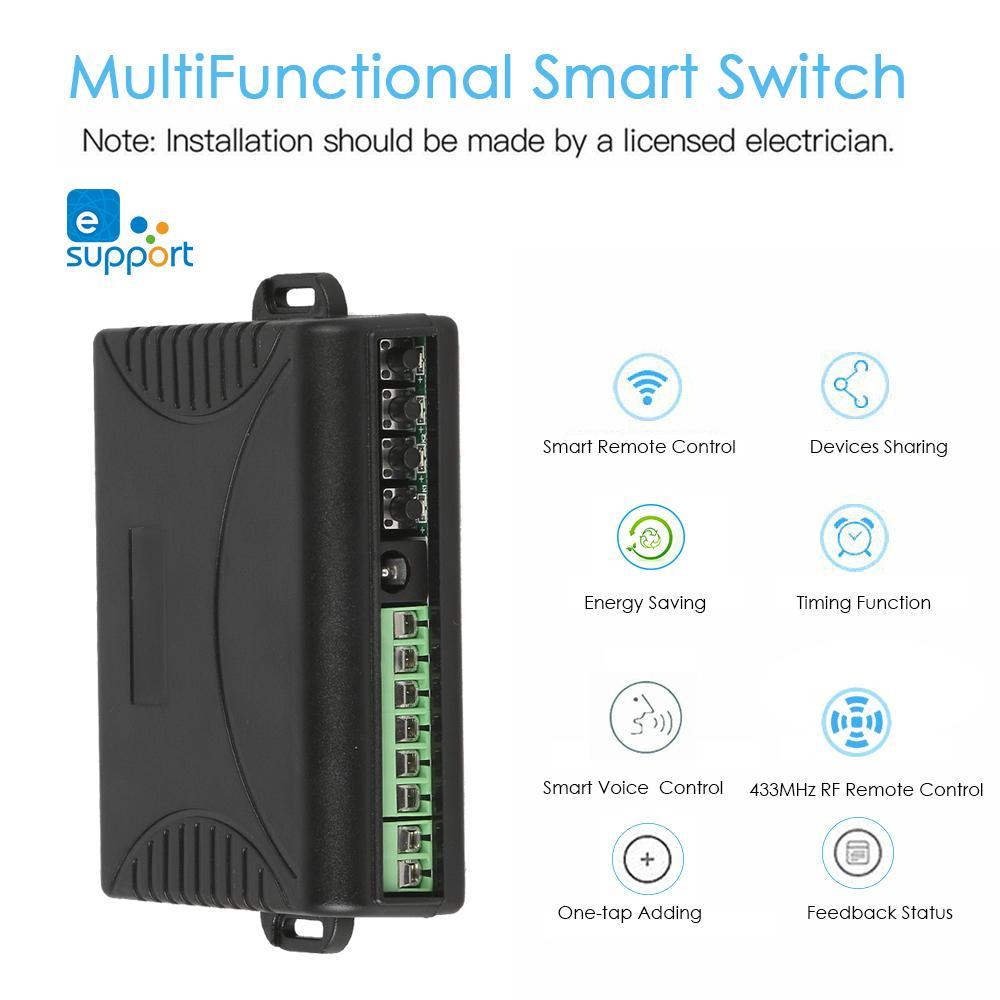 AC DC interruttore Wifi Smart Home automation APP Telecomando Amazon Alexa Google Casa Programmi di Timing 433 MHz RF Remote controllo